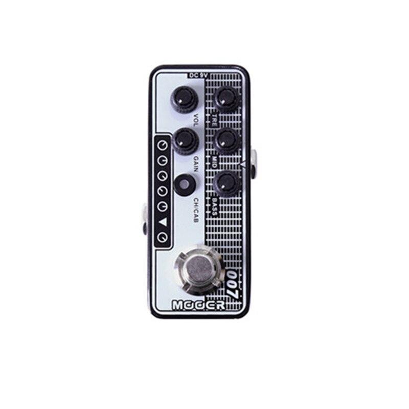 Regal Tone guitare électrique effet pédale accessoires de guitare haute qualité double canal préampli indépendant 3 bandes EQ Mooer 007