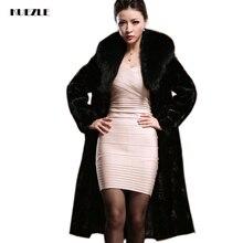 Women new slim fashion thick warm fur jackets 2018 Korean version of the long winter coat Padded Jacket Windbreaker S-XXL