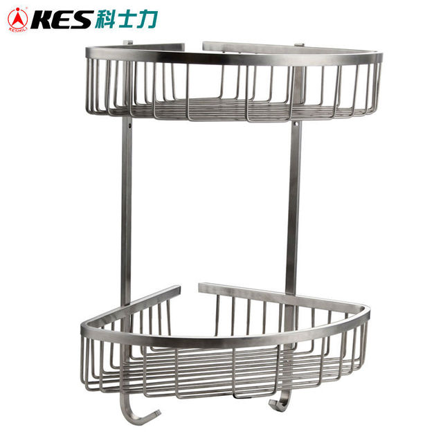KES A2123B 2 Bathroom Triangular Tub and Shower Caddy 2 Tier Wall ...
