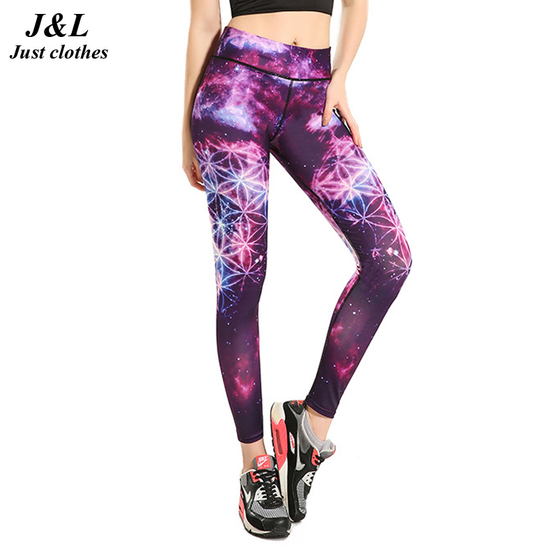 Hot Sales!! 3D Star Printing Slim Leggings Women Sporting Fitness Legging Top Quality Not Transparent Gradient Compression Pants