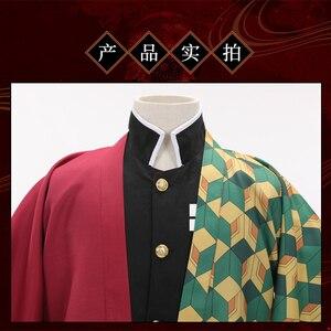 Image 5 - Disfraz de Cosplay de Demon Slayer Kimetsu no Yaiba, capa de Kamado, Tanjirou, Agatsuma, Zenitsu, Tomioka, Giyuu, Haori, hombres, uniformes de capa