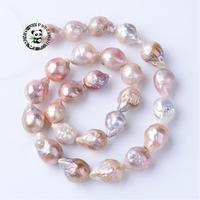 Natural Keshi Pearl Bead Strands, Drop, Thistle, 15~17x11~13mm, Hole: 0.5mm; about 25pcs/strand, 15.9'' F70