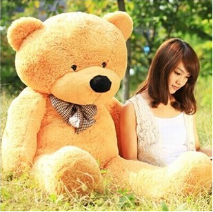 Big Sale big teddy bear giant large stuffed toys animals plush kid children baby dolls lover toy valentine gift for girls new 200cm huge giant yellow teddy bear soft big plush toy stuffed kid baby doll life size bear doll for children girls gift llf