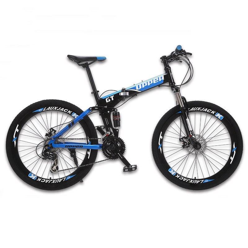 GT-UPPER Sepeda gunung sistem suspensi penuh rangka lipat baja 24 - Bersepeda - Foto 2