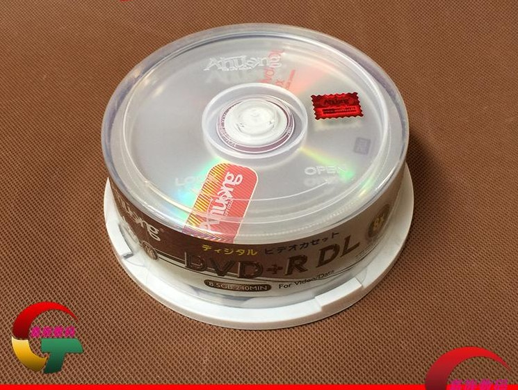 Wholesale 25 Discs Ahuang Grade A 8.5 GB 8x Blank Printed DVD+R DL Disc