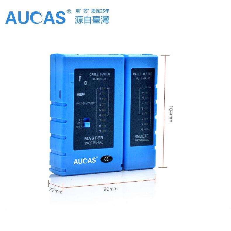 AUCAS Netzwerkkabel Tester rj45 RJ11 Netzwerk LAN Ethernet RJ45 Kabel Tester tool