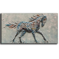 Animal Oil Paintings on Canvas Texture 3D Horse Paintings Modern Home Sitting living room Decor Abstract Artwork Picture Canvas