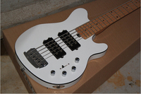 Hot Selling Ernie Ball Musicman Music Man white Electric Bass Guitar Sting Ray 5 Strings 9V Active Pickup 14 11 11