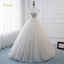 Loverxu Ball Gown Wedding Dress 2019 Cap Sleeve Bridal Gown
