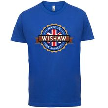 Made In WISHAW Mens T-Shirt - Town / City 13 Colours Print T Shirt Short Sleeve Hot Tops Tshirt Homme