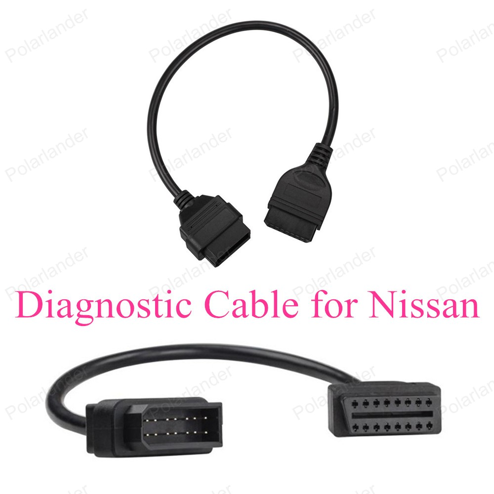 High Quality <font><b>OBD</b></font> 2 Car <font><b>Scanner</b></font> Cable for N-issan 14-16 Pin Car Diagnostic Cable Diagnostic Adapter Connector image