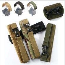 Наружная модульная Крышка для гарнитуры, головная повязка Molle для обычных тактических наушников, микрофон для охоты и стрельбы, чехол для наушников