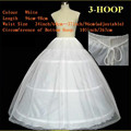 In Stock 2016 Hot Sale 3 Hoop Ball Gown Bone Full Crinoline Petticoats For Wedding Dress Wedding Skirt Accessories Slip