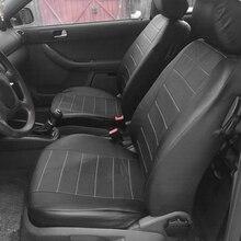 2 個黒puレザーカーシートカバーすべての車suvトラックカーシートプロテクターエアバッグ互換性