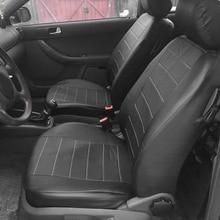 2pcs שחור עור מפוצל רכב מושב כיסוי עבור כל רכב Suv משאית לרכב מושב מגן כרית אוויר תואם