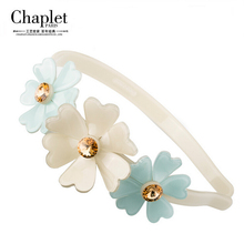 Chaplet 2016 High Quality Fashion Hair Jewelry Flower Hair Accessories Women Rhinestone Headband Korean Hairband Free