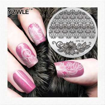 lace designs nail stamp decoration tools round image plate nail art stamping plate with low price image