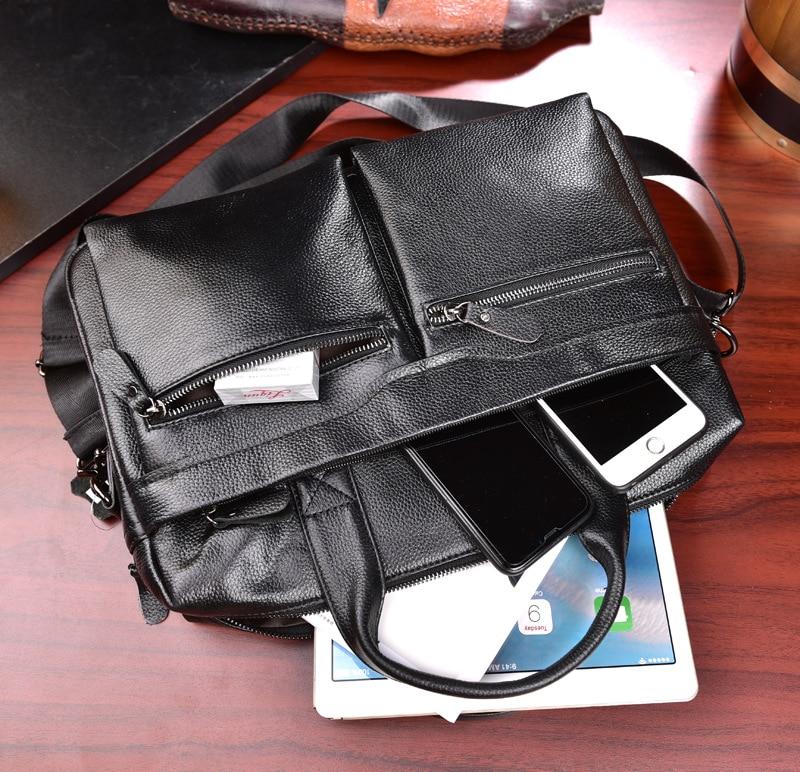 HTB1wMqhL7zoK1RjSZFlq6yi4VXaU New Luxury Cow Genuine Leather Business Men's Briefcase Male Briefcase Shoulder Bag Men's Messenger Bag Tote Computer Handbag