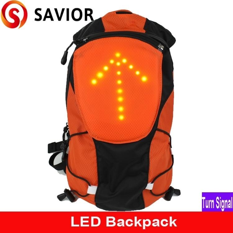 SAVIOR M-02 Turistická / Cyklistická a kempová taška s batohem s bezpečnostní LED kontrolkou Světlo Dálkové ovládání Venkovní tašky, směrovka