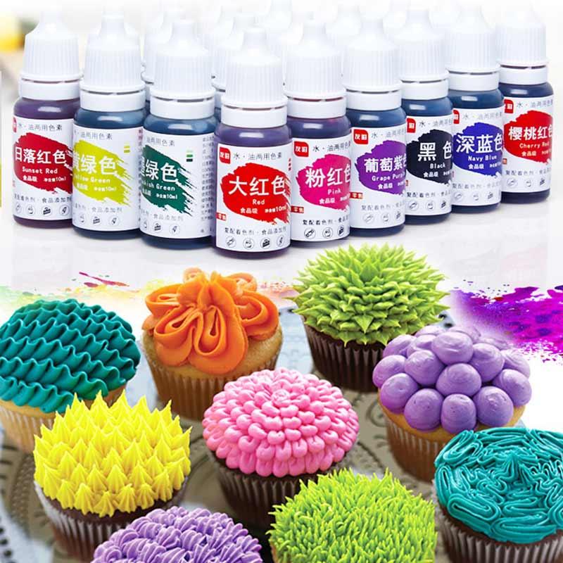 Tools Macaron Food Coloring Baking Ingredients Cake Decorating Edible Color