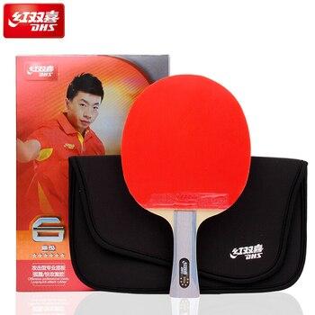 Raquettes de tennis de table DHS 6 étoiles avec ouragan 8 et tinarc en caoutchouc 6002/6006 ajouter ensemble de sac batte de ping-pong tenis de mesa