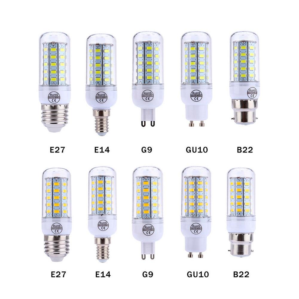 LED Lamps 110V 220V SMD 5730 Corn Bulb E27 E14 B22 G9 GU10 Light Bulbs Lampada