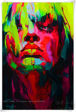 Palette knife painting portrait Palette knife Face Oil painting Impasto figure on canvas Hand painted Francoise Nielly 26