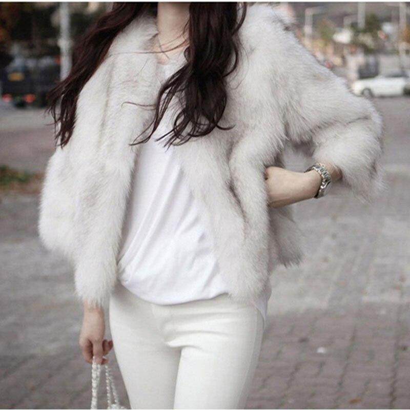 Fox Del Abrigo Vellosidades Lana Mujeres Diseño Para Las Invierno Felpa Mujer Moda Faux Abrigos De Chaquetas Piel Corto Fur qERnUSw4