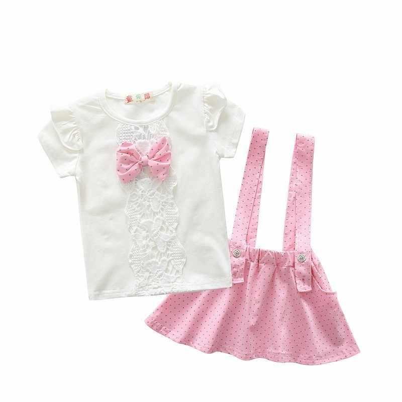 679b021cf8396 NYSRFZ fashion toddler baby girl summer clothes sets bow 2 pieces girl  summer clothes set children sport suit set training set