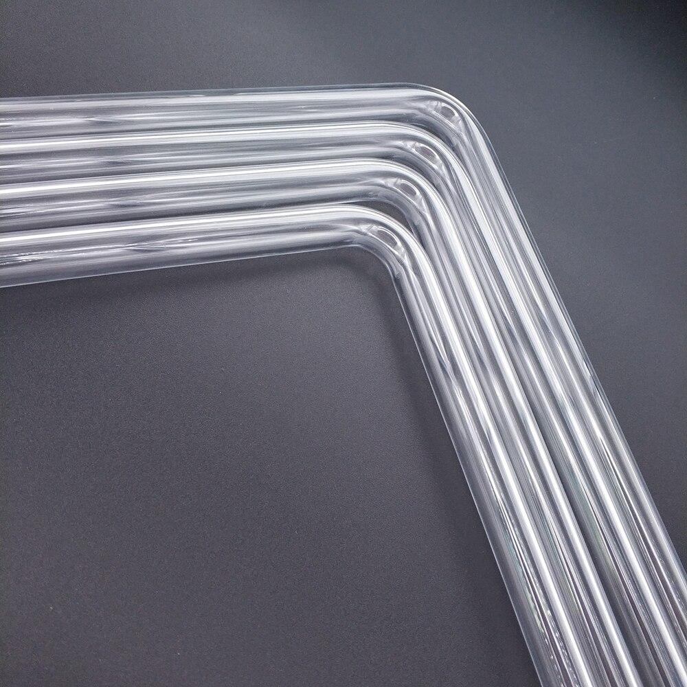 """רשימת הקטגוריות Tube בארתי PMMA / PETG הקשיח (OD12mm / OD14mm / OD16mm) + 2 מ""""מ עובי + 90 מעלות כיפוף צינור שקוף 4pcs / לוט (4)"""