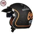 Torc casco de la motocicleta harley cruiser casco abierto de la cara de la vendimia t57h moto motocicleta casco casque capacete cascos punto