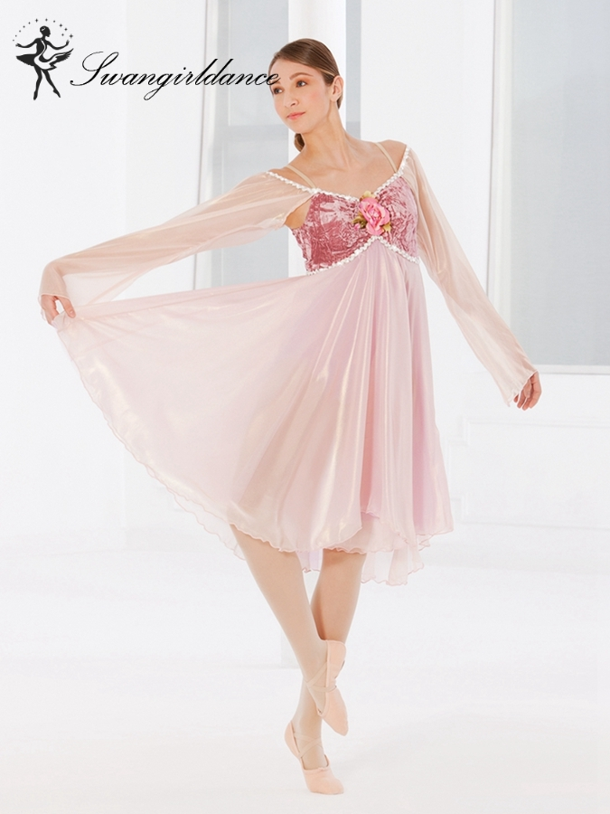 adult ballet dance costume ballerina dance dress Lyrical contemporary dance costume girl ballet dress BL0056