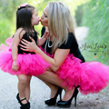 Mamá y Bebé Falda Del Tutú Del Vestido Vestidos de Princesa de la Familia de Madre E Hija Falda A Juego de Ropa Bebé Niñas y Mamá apoyos de la Foto
