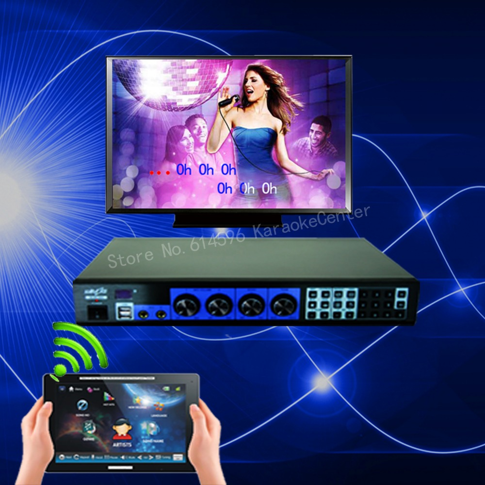 Complete Karaoke System Touch Screen Amplifier Mixer Speaker Ts Monitor Touchscreen Led Putih Hdd Mesin Player Sistem W Lagu Wireless Sentuh Layar Hdmi Dukungan
