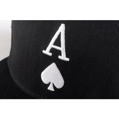 Ace of Spades Snapback Baseball Hat with Embroidery Black White-in Baseball  Caps from Apparel Accessories on Aliexpress.com  7763abd7bd0