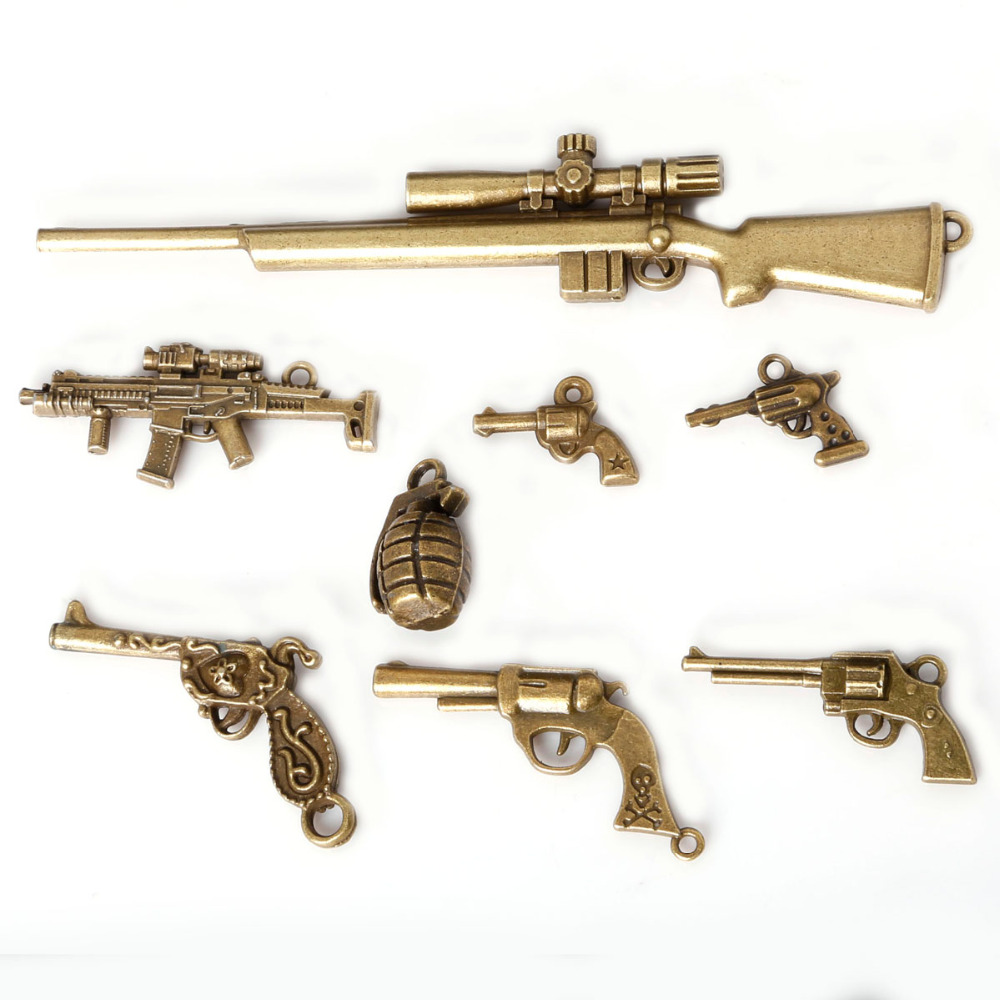 Shotgun Charm Charms for Bracelets and Necklaces