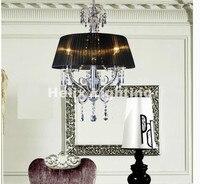 Spedizione Gratuita Modern Black Lampadario di Cristallo di Illuminazione di Lusso Top Vendita Diretta Della Fabbrica 4L D50cm LED Lampadario Di Cristallo di Design