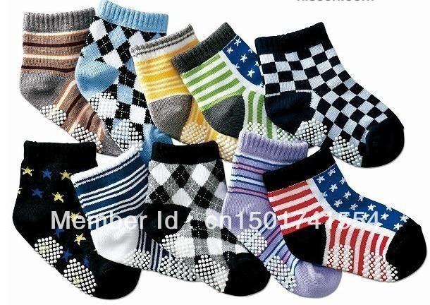 AW115 free shpping New arrival hot-selling 100% cotton children socks slip-resistant small kid's socks baby floor socks
