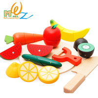 Free shipping Children's/kids wooden classic toy Kitchen Toys Set Baby Wood Fruits and vegetable cutting simulation play house