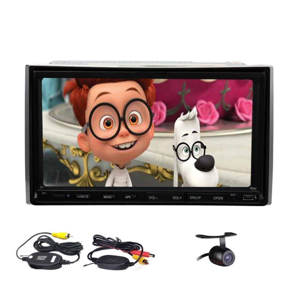 2din car stereo HD Screen Bluetooth Touch Screen Car Stereo Radio Player with FM/MP3/USB/AUX /Audio SD Card+free wireless camera