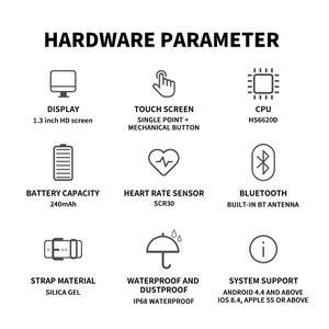 Image 5 - Smartwatch ip68 방수 혈압 심장 박동 피트니스 트래커 안드로이드 ios에 대한 블루투스 스포츠 스마트 시계를 생각 나게하십시오