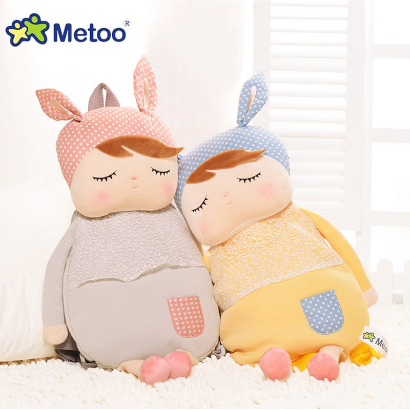 Kawaii Cute Plush Backpack Metoo Doll Soft Cartoon Animal Stuffed Toy For Girl Kid Children School Shoulder Bag For Kindergarten 40 30cm plush toys stuffed animal doll talking animal toy pusheen cat for girl kid kawaii cute cushion brinquedos free shipping