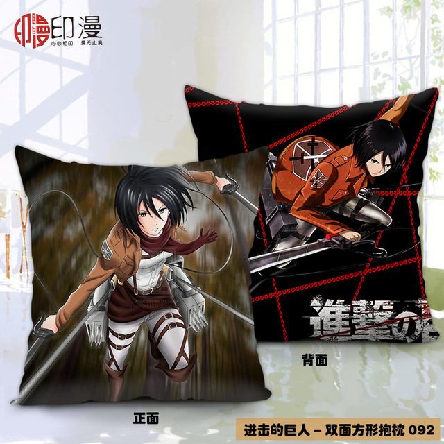 Anime Attack on Titan Polyester Double-Faced Pillowcase