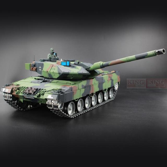 dc761a6aa728 Heng Long 1 16 Germany Leopard 2A6 Green RC Tank Green Ultimate metal  version With