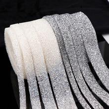 1 ярд Швейные отделка орнамент из кристаллов Стразы горячей фиксации Сияющий Смола тесьма со стразами Аппликации для платья одежда обувь 1/1. 5/2/3 см