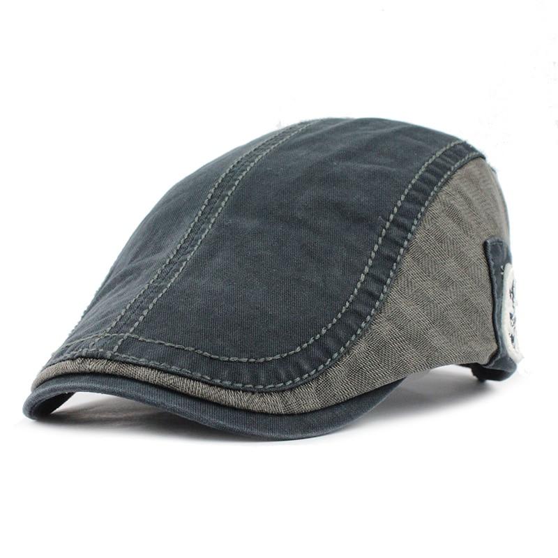 [FETSBUY] Platte Flat Cabbie krantenverkoper caps gestreepte - Kledingaccessoires