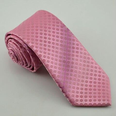 Pink Silk Tie Polka Dot 2M9