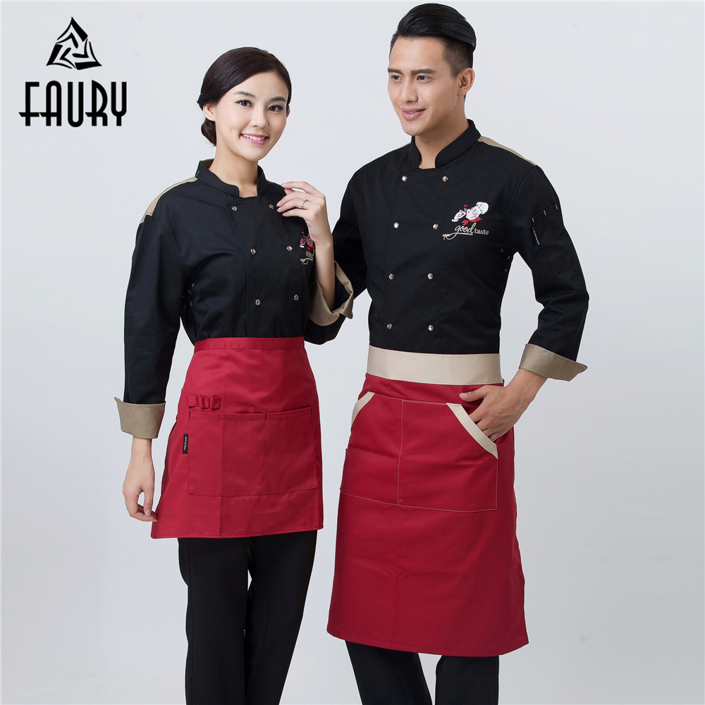 New Wholesale Unisex Chef Long Sleeve Jacket With Breathable Holes Catering Food Service Restaurant Kitchen Work Uniforms Coats