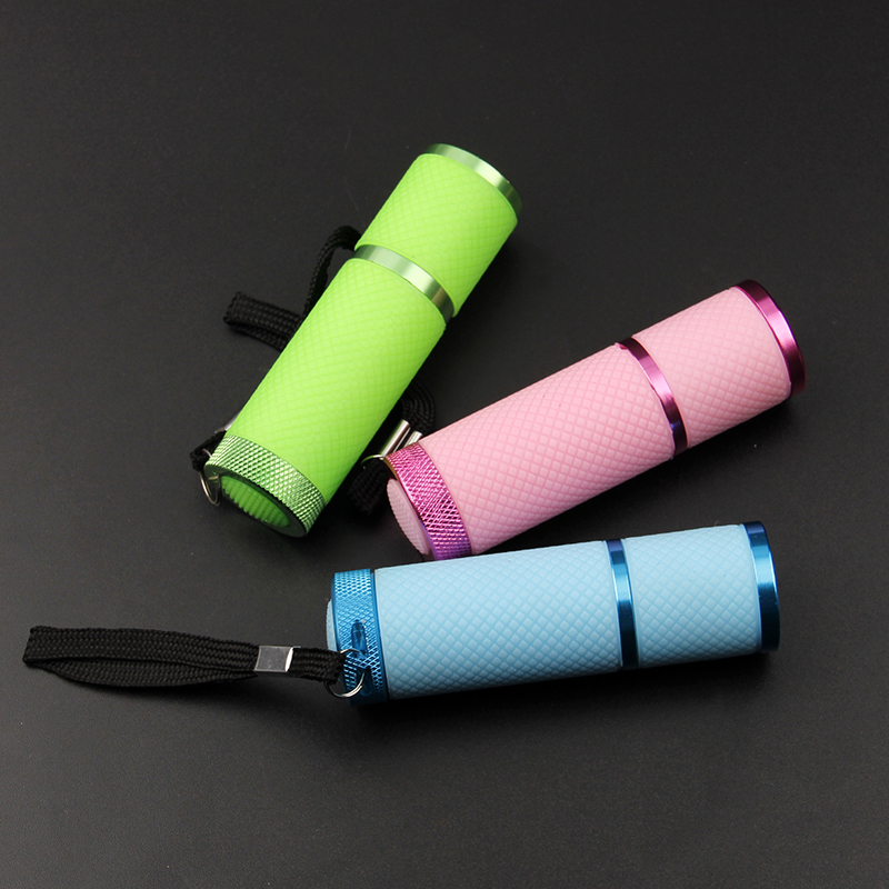 3 Colors UV Flashlight 9 Led Ultra Violet Torch Light Lamp For Epoxy UV Resin Cure Adhesive Glue Jewelry Equipments Tool