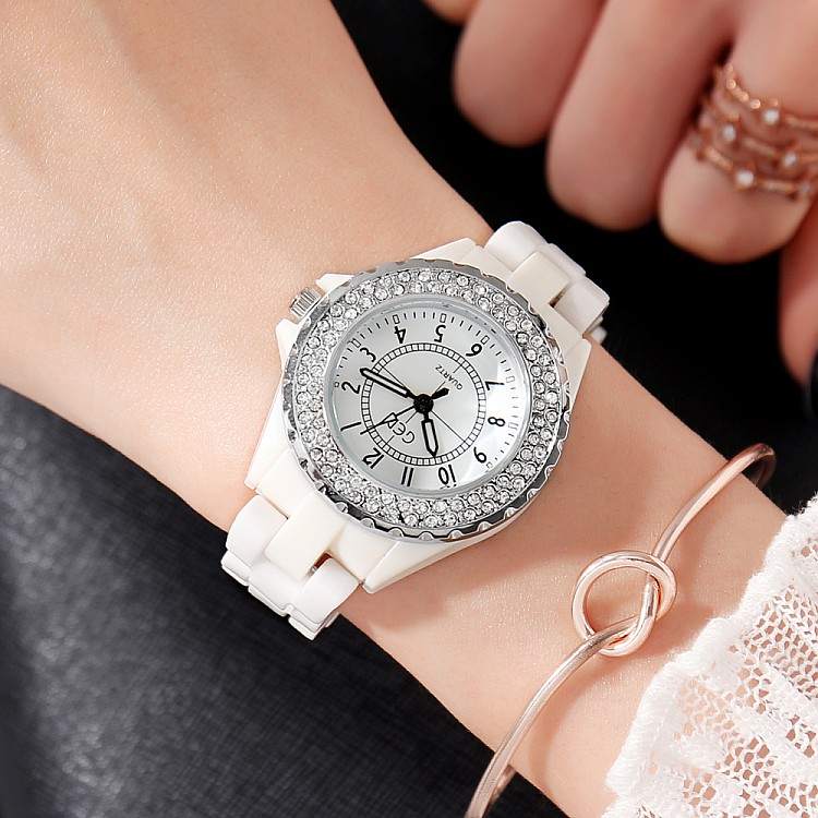 GEDI Fashion White Ceramics Women Watches Top Luxury Brand Ladies - Dameshorloges - Foto 3